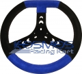 Steering Wheel Flattened Blue/Black Ø 320mm